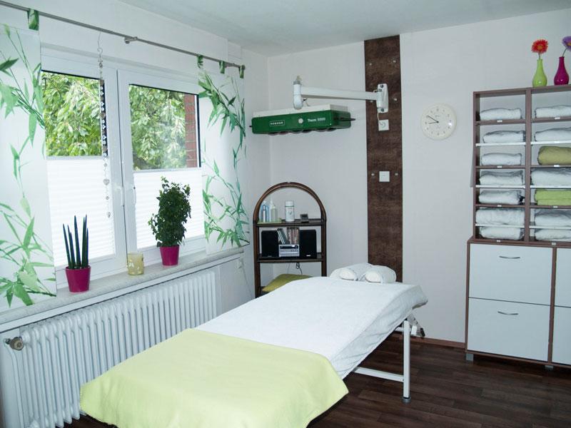 Massageraum Fußpflege und Massage Regina Engel Bramsche